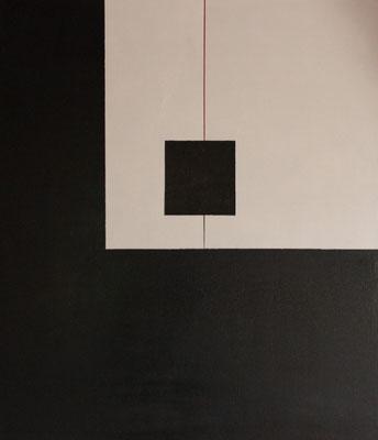 """""""Am seidenen Faden"""" Acryl auf MDF, 70x60 cm"""