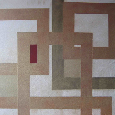 """ Schnittmenge  III"", Acryl auf Leinwand, 70 x 70 cm,  verkauft"
