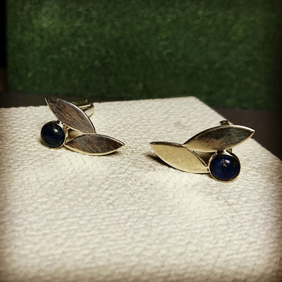 Capiba bijoux Bouton manchette personnalisé lapis lazuli