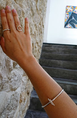 Capiba bijoux bague martelée unique