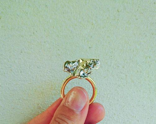 Capiba bijoux Bague pépite unique