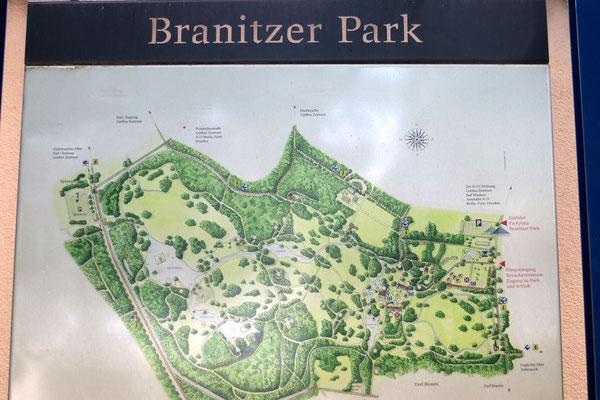 Nach dem Einchecken ging`s gleich weiter in den Park Branitz