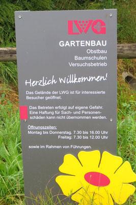 Ankunft im Lehrgarten Veitshöchheim