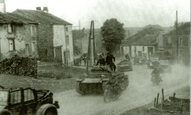 Panzer division entrant à Sugny