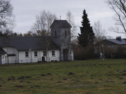 Ev. Lagerkirche - erbaut nach Kriegsende durch internierte SS