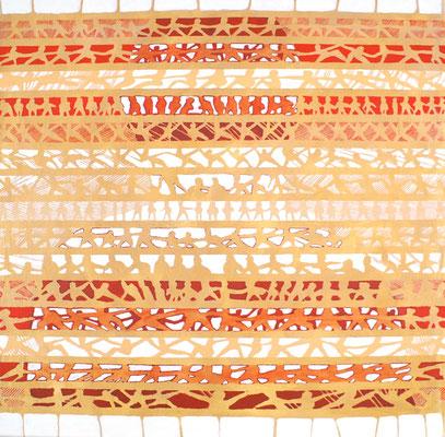 "2012NL009,""Integration"", Acryl auf Leinen,  120 x 120 cm, 2012"