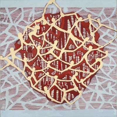 "2015NL007, ""Reflexion"", Acryl auf Leinen, 85 x 85 cm, 2015"
