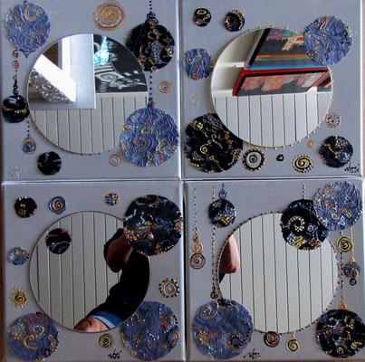 Miroirs dentelles 4x30x30 cm