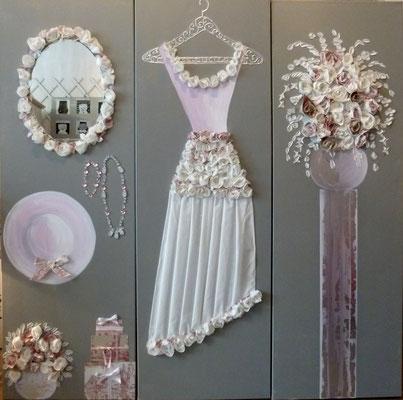Mariage de rêve rose2 3x150x50