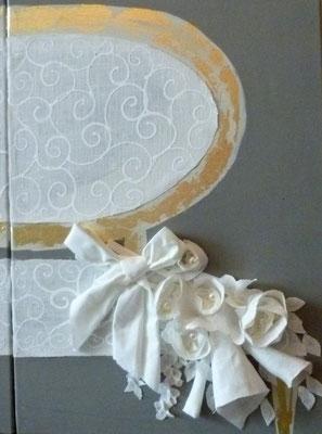 Detail canapé blanc