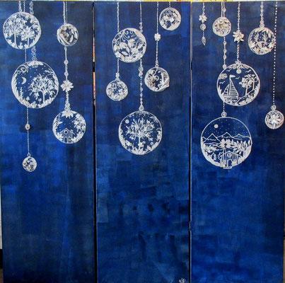 Paravent Lanternes 3x150x50