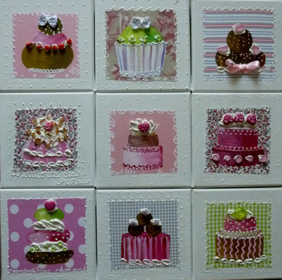 New cakes roses 9x20x20