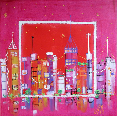 Pink town 50x50