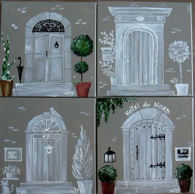 Portes blanches 4x30x30
