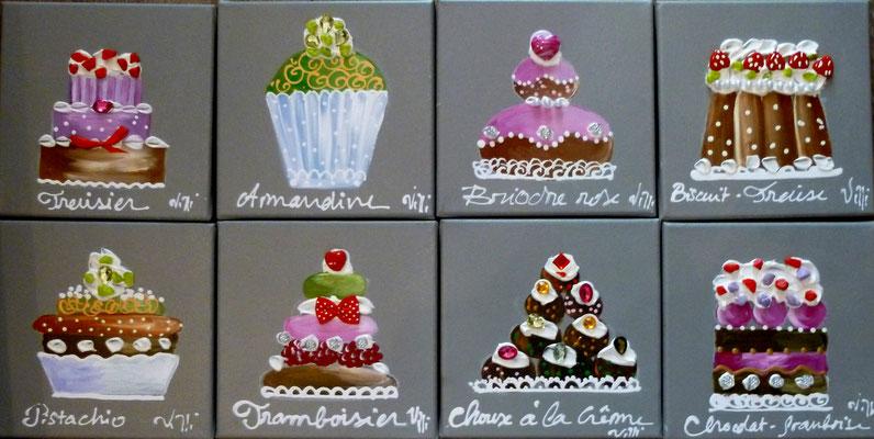 Mini cakes 8x20x20