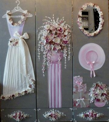 Mariage de rêve en rose 3x50x170