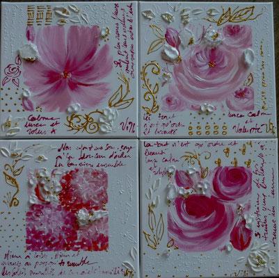 Histoire de fleur 4x30x30