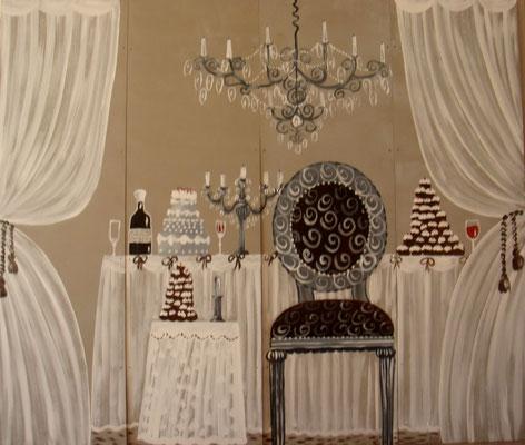 Banquet beige 4x50x150