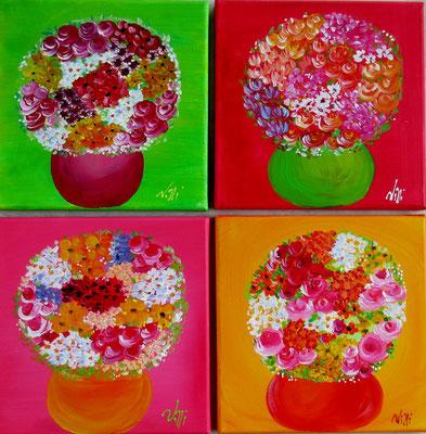 bouquets naifs 4x30x30