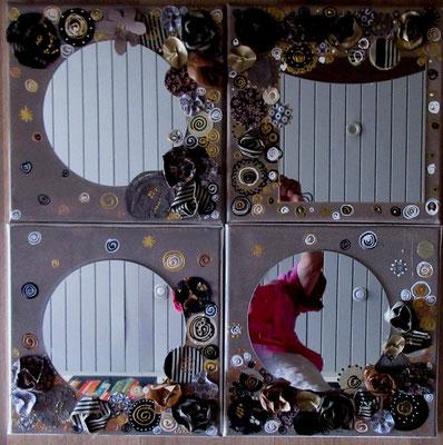Miroirs K 4 x30x30 cm