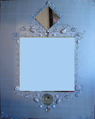 Gris et argent miroir 80x80