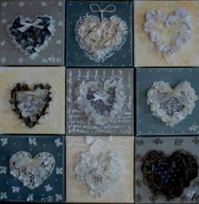 Collection de cœurs 9x20x20