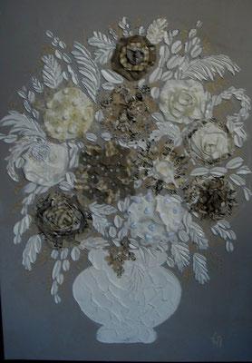 Bouquet gris 120x80