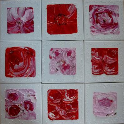 Fleurs fushia 9x20x20