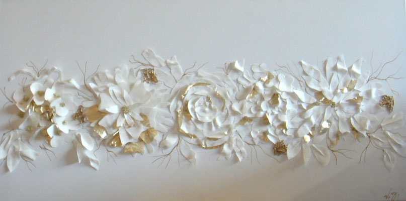 Découpage lin blanc 100x50