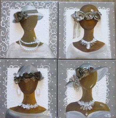 Chapeaux et bijoux 4x30x30
