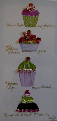 Cup cakes  horizontal 80x40