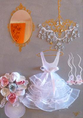 Danseuse et bouquet 50x70