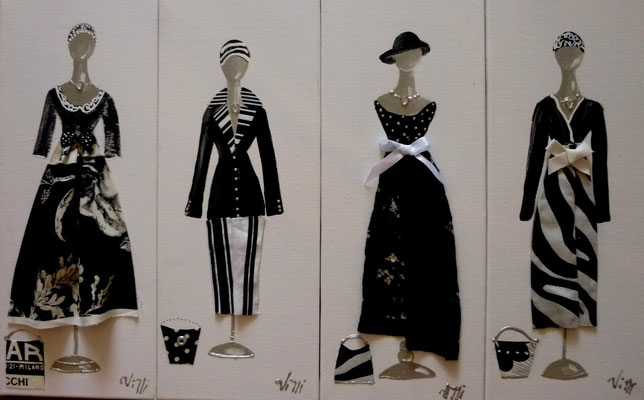 Elegantes noir blanc 9 4x50x20