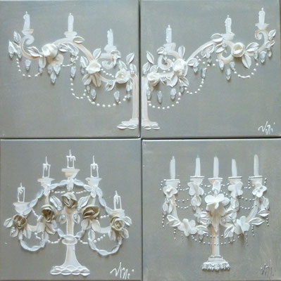 Chandeliers dentelles 4x30x30