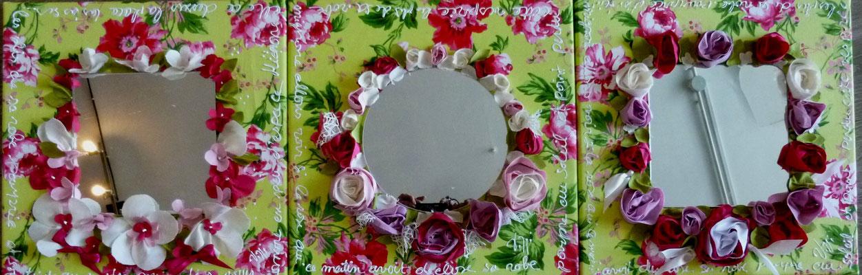 Fleurs en folie vert 3x40x40