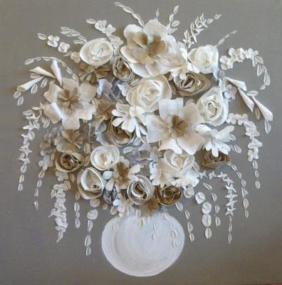 Bouquet gris 80x80
