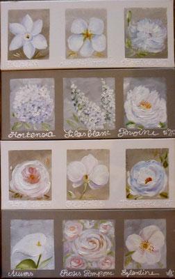 """""""Fleurs pastel """" 4x20x50"""
