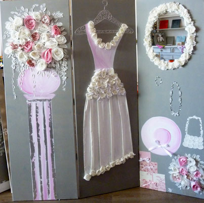Mariage de rêve rose 3x150x50