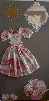 Robe enfant romantique 50x70