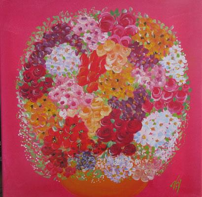 Bouquet naif 1 50x50