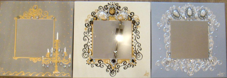 Baroques miroirs  3x40x40