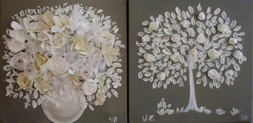 Bouquet et arbre 2x50x50
