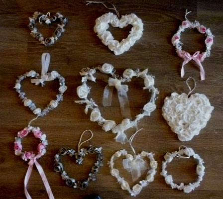 Valentins 10 couronnes de 15 a 30 cm