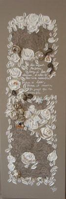 Roses de soie 100x50