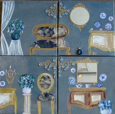 Provence bleue 4x30x30