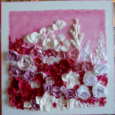Fleuries rose 80x80