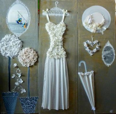Mariage gris blanc 3x150x50