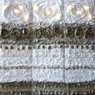 Paravent tissus en folie 3x150x50