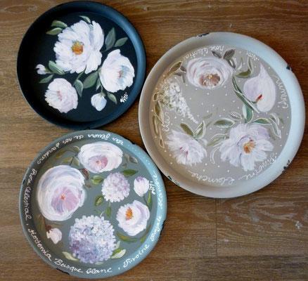 Plateaux fleurs diam 30,35,45