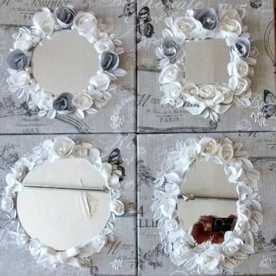 Miroirs fleurs de Paris 4x30x30